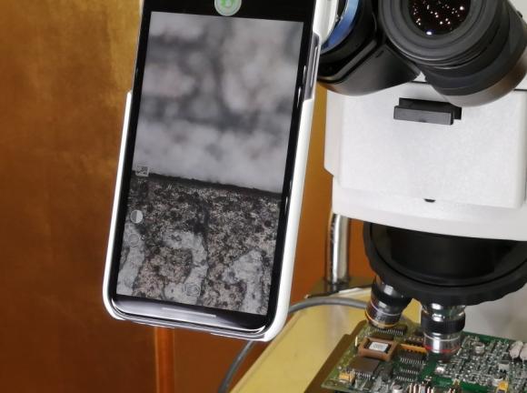iPhoneと顕微鏡で焦点合成撮影を体験!